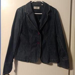 CITY DKNY- Vintage Blazer cut jean jacket.